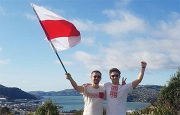 Белорусы из Новой Зеландии поддерживают перемены