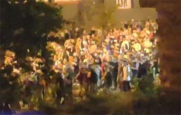Ночной марш протеста в Минске