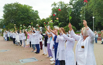 Doctors Of First Minsk Hospital Joined Chain Of Solidarity