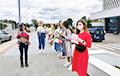В Минске возле здания БТ проходит акция