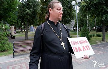 Православный священник вышел на одиночный пикет