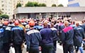 BelAZ Workers Demanded to Remove OMON From the City and Give Them a Stadium for the Rally