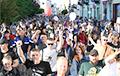 Бастующие работники «Гродно Азота» колонной прошлись по улицам