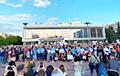 Ля Палаца чыгуначнікаў у Менску сабраліся работнікі БЧ