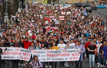 По всей Беларуси люди остановили работу и вышли на улицы