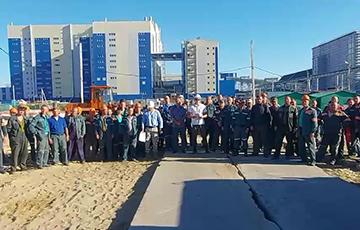 На строительстве ГОК в Петрикове началась забастовка