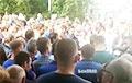 Рабочие «БелОМО» вышли на протест