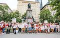 Белорусы Монреаля вышли в центр города на на акцию солидарности