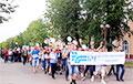 Марш железнодорожников проходит в Молодечно