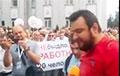 Видео эпохи: стачком МТЗ озвучивает требования рабочих перед маршем к Дому правительства