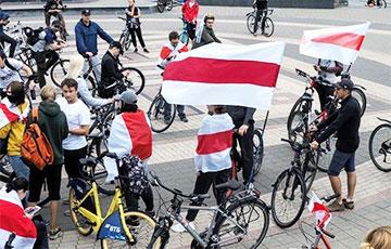 Возле Дворца спорта начался велопробег солидарности