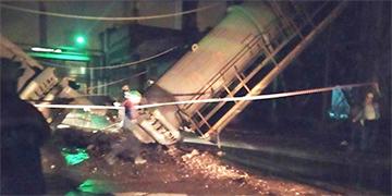 Ночью на БМЗ рухнул газоход второй печи