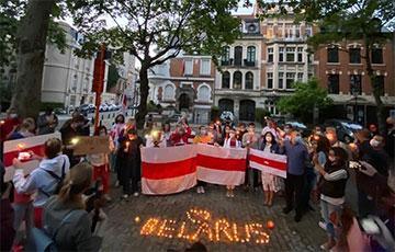 Белорусы Бельгии вышли в поддержку протестующих