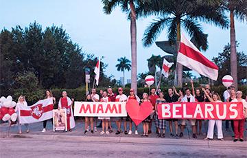 В Майами прошла акция солидарности с Беларусью