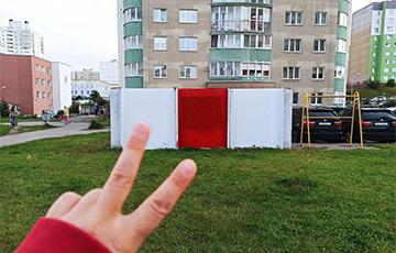 Минск за одну ночь стал бело-красно-белым