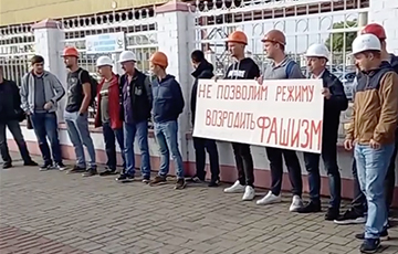 Солигорские шахтеры вышли в поддержку протестующего под землей Юрия Корзуна