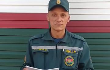 Пожарный — министру МЧС: Отчетливо понимаю, кто враг белорусского народа