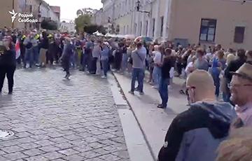 Жители Гродно вышли в центр города