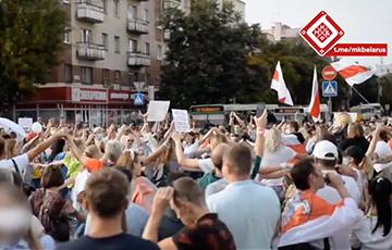Как брестчане перекрыли движение в центре города