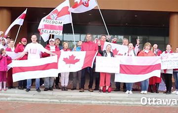 По всей Канаде прошли акции солидарности с Беларусью