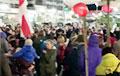 К протестующим на «Маяке Минска» пришли в гости Степянка, Восток и Новая Боровая