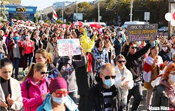 Белоруски вышли на Блестящий марш женской солидарности