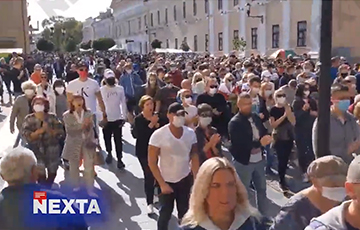 Видеофакт: мощное шествие проходит в Гродно