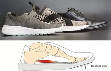 Ученые оценили пользу обуви с поднятым носом