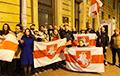 Санкт-Петербург вышел на акцию солидарности с белорусскими шахтерами