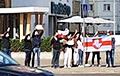 Минчане вышли на акцию солидарности у станции метро «Пушкинская»