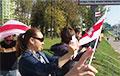 Водители и пешеходы в Минске проводят совместную акцию протеста