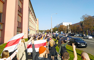 BSUIR Students Took Part in the March of Brave People