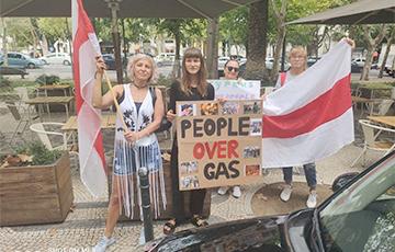 В Лиссабоне прошла акция солидарности с Беларусью