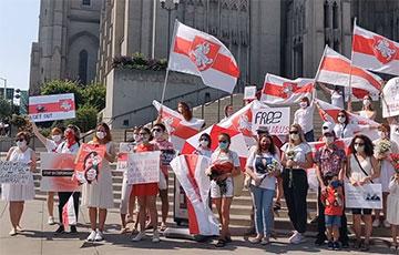 Белоруски Сан-Франциско вышли на Женский марш солидарности