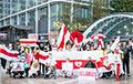 Белорусская диаспора провела акцию протеста в финансовом центре Лондона