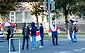 Жители улицы Маяковского в Минске вышли на акцию солидарности