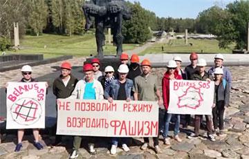 Салігорскія шахцёры правялі акцыю супраць фашызму ў Беларусі