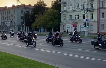 На проспекте Независимости в Минске прошел мотопробег солидарности