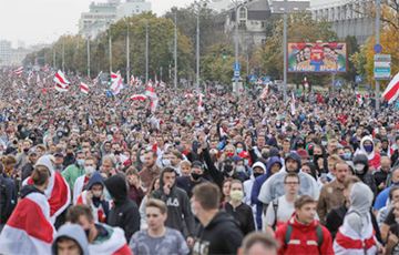 March Of 97% Held All Over Belarus (Online)