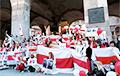 Белорусы Милана поддержали Марш 97%