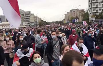 «Как ощущения?»: Стотысячный Марш идет по улицам Минска