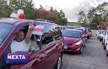 Белорусы Миннесоты провели бело-красно-белый автопробег