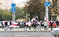 В Минске на улице Кальварийской протестующие встали в цепь