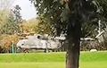 Mi-8 Helicopter Landed In Minsk Victory Park