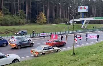 Residents Of Anharskaya Street Protest At Minsk Ring Road