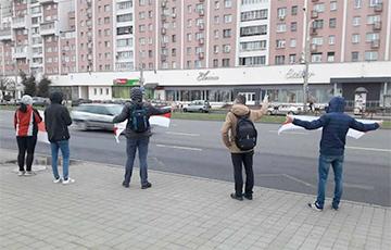 Minsk Residents Protest At Mayakovsky Street
