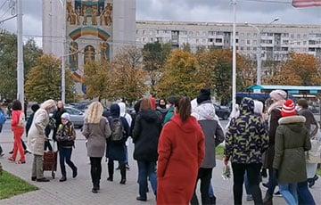 Belarusian Women Start Marching Along Minsk