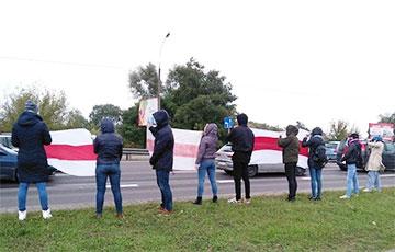 Брестчане выстроились в цепь солидарности