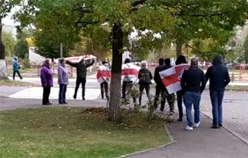 Лидские партизаны вышли на протест