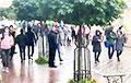 В Гродно протестующие гуляют по городу